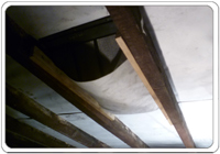 Air input vents installed in the loft